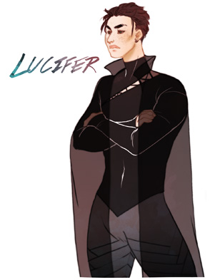 Fan art de Lucifer de Peter's really pretty pour le livre Thunderhead de Neal Shusterman
