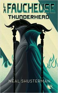 """Couverture du livre """"Thunderhead"""" de Neal Shusterman, il s'agit du tome 2 de la série La Faucheuse"""