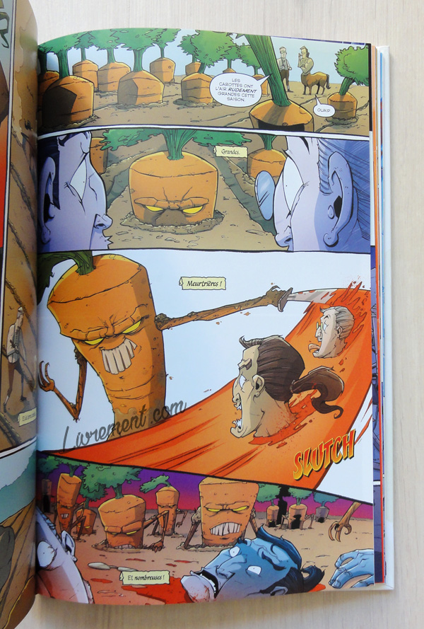 Planche issue de Tony Chu de Layman : l'attaque des carottes