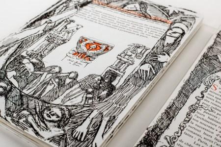 Détail du fac-similé de l'ouvrage «Voyage au pays des sculpteurs romans», paru aux Éditions Loisirs et Pédagogie.