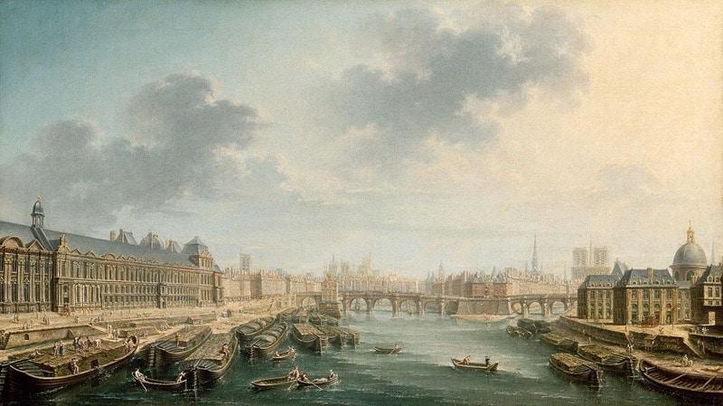 Paris la Seine 18e siecle - Jean-Baptiste-Nicolas RAGUENET (1715 - 1793)