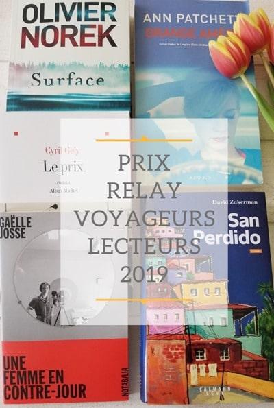 Prix RELAY des Voyageurs Lecteurs 2019 - blog littéraire