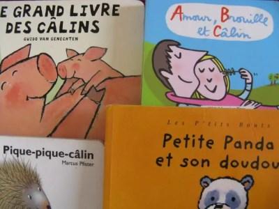 Livres enfants avec des câlins et des bisous