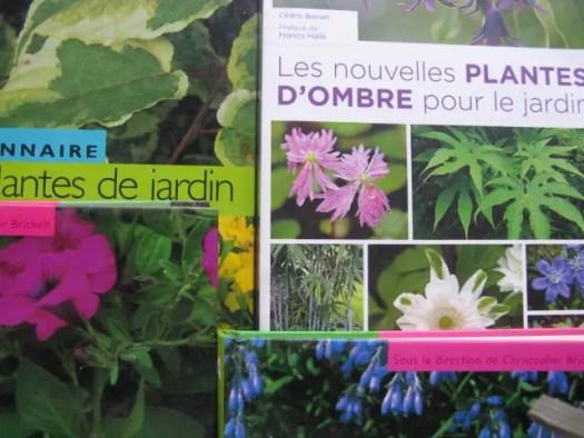 livres de plantes vivaces, plantes d'ombres, fleurs