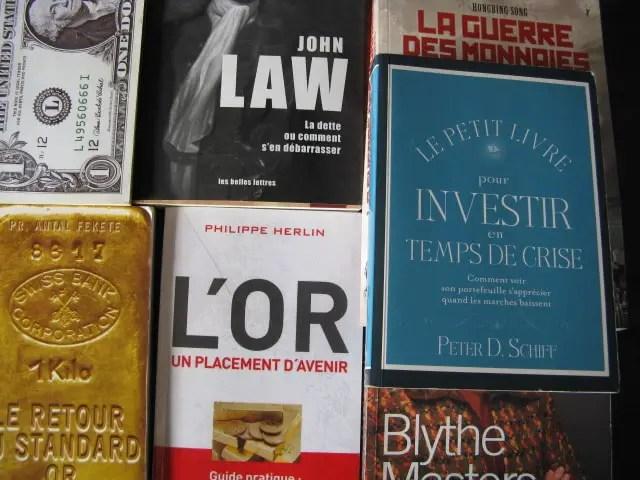 livres sur l'or et les placements