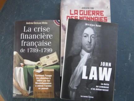 livres sur les crises financières, les assignats, John Law