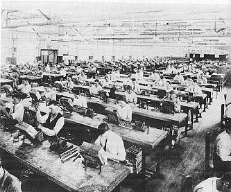 Et av fabrikklokalene i det opprinnelige forsøket.