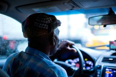 I usually photograph cab drivers when in New York & always pass them my card, telling them I'll send a copy if they e-mail. So far: zero participants.