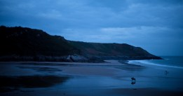 The first week there was spent at Caswell Bay, South Wales, in The Mumbles.