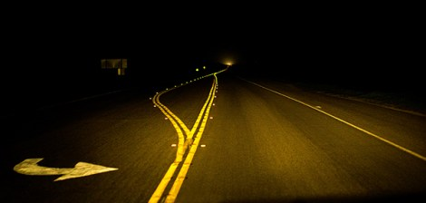 A late night drive along Highway 1.