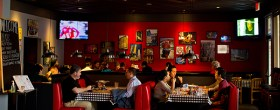 This is the interior of a section of Windy City, with my photographs of Chicago on the walls.