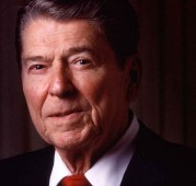 Ronald Reagan, just after leaving office, appearing to be a tad confused during our session.