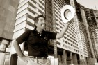 Stephen Wynn, Las Vegas entrepreneur, shot in front of the under-construction Mirage Hotel.