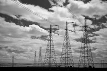 Electrical towers in Central California.