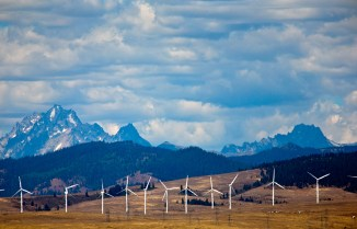 This is a wind farm in Oregon.