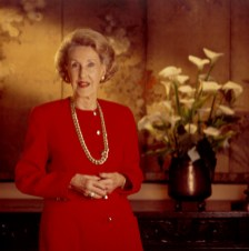 Flora Thornton, widow of the founder of Litton Industries, a USC donor.