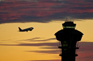 LAX's prominent tower.