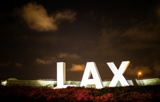 This is the southern approach to LAX, along Sepulveda Boulevard.