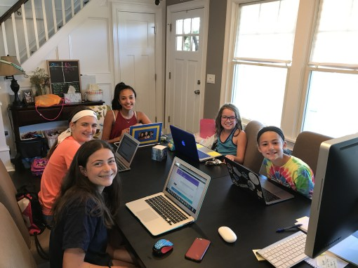 Girls Build Website in Summer Project for Local Club