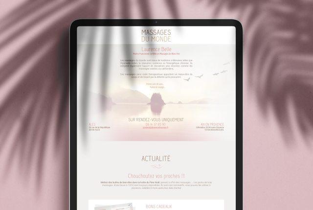Laurence Belle, salon de massage site internet, site vitrine