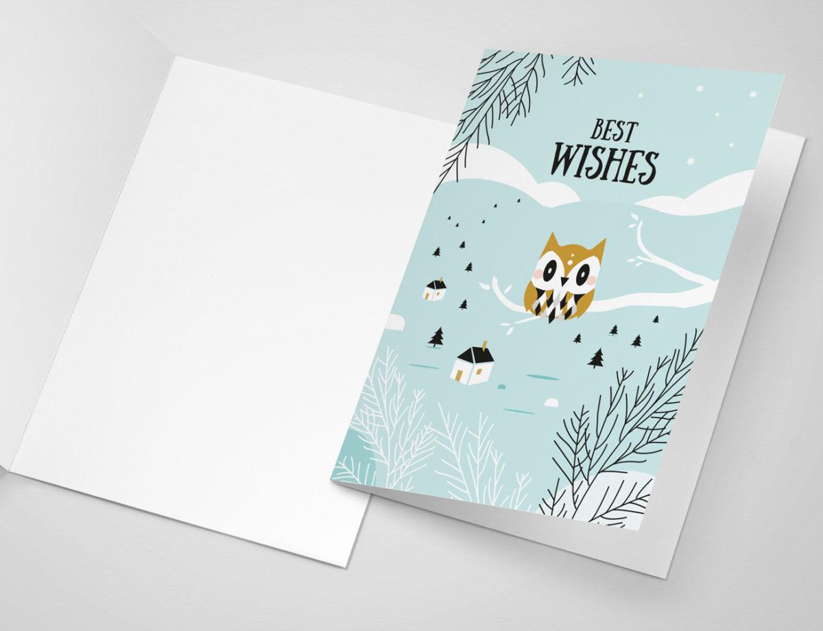 Carte de voeux à imprimer