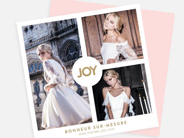 JOY styliste création de robe de mariée, créatrice de mode, création de site internet