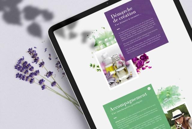 Création de site internet One Page WordPress - Créateur parfum mode