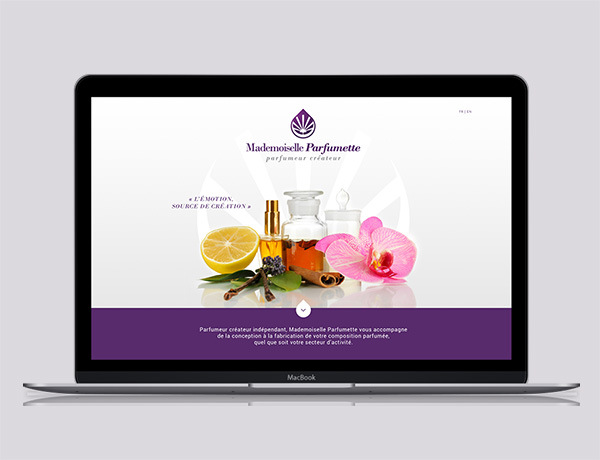 Mademoiselle Parfumette - Création site internet parfum