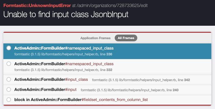 JsonbInput exception details
