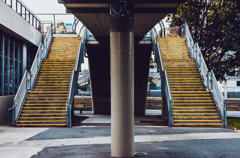 Twin stairs Melbourne City Street Photography