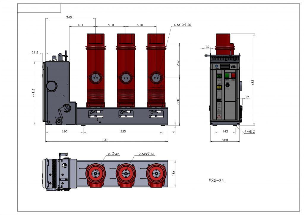 VSG Type 12kv 24kv Indoor High Voltage Vacuum Circuit