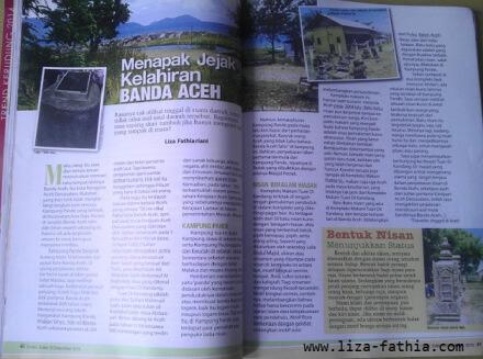 Tulisan saya di rubrik Perjalanan Majalah Ummi dengan judul Menapak Jejak Kelahiran Kota Banda Aceh