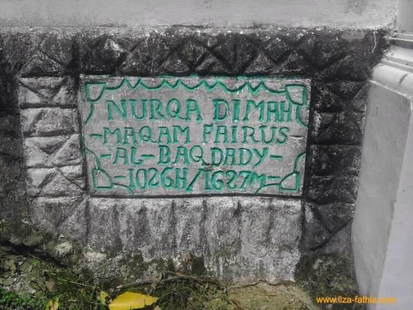 Nurqadimah Maqam Fairus Al Baghdady (1026M)