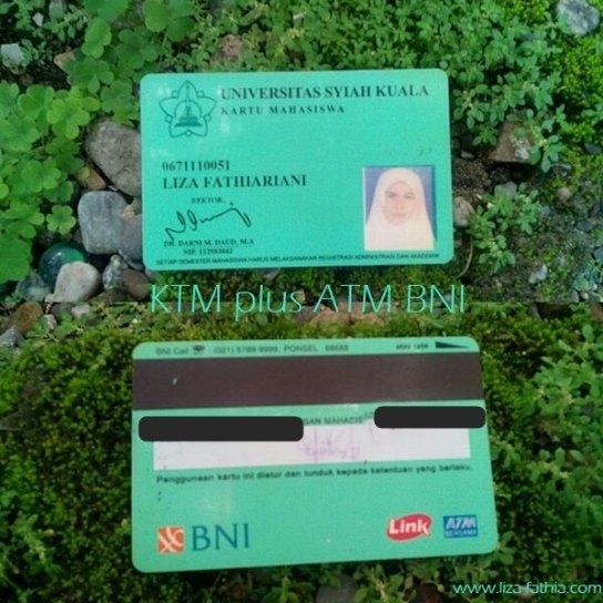 kartu ATM plus KTM BNI