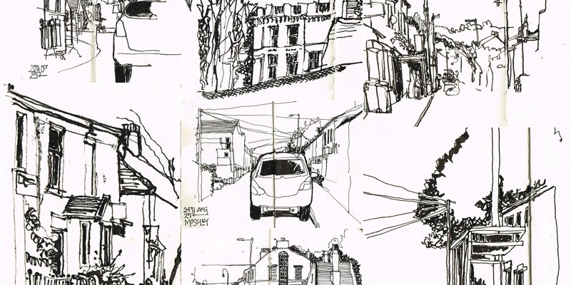 penandink sketching mossley