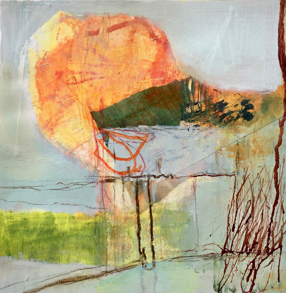 Abstract Mixed Media landscape