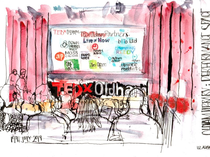 Tedx Oldham reportage drawing