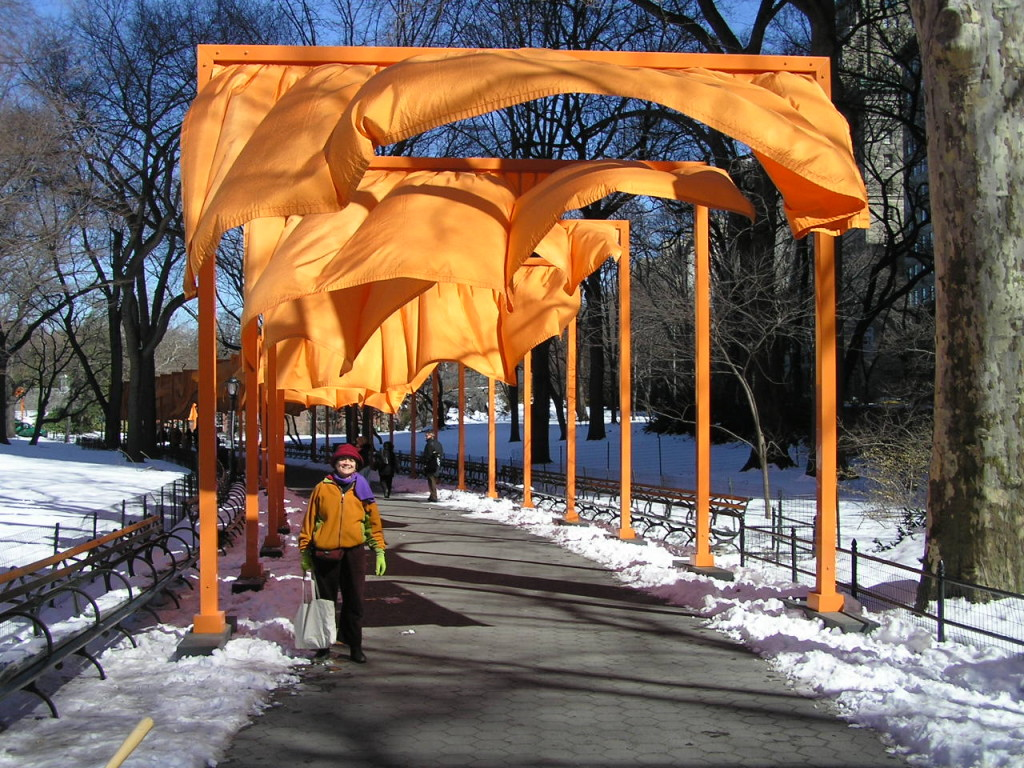 Christo's Gates in NYC Central Park.