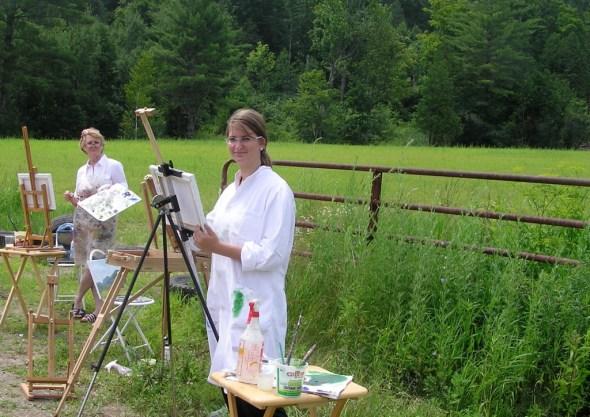 Plein air painting in Vermont