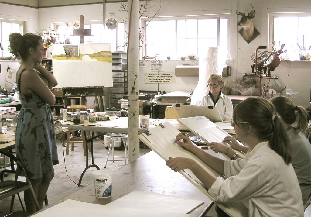 Figure studies in Liza's studio.