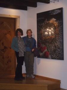 Liza Myers Gallery, Shard Nest, Acrylic Painting
