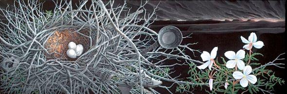 """Fragile Dawn, acrylic on canvas, 30"""" x 66"""""""
