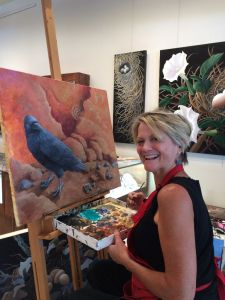 I spent three days painting live at True West Gallery in Santa Fe.