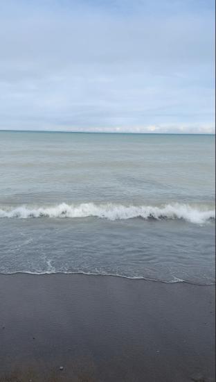 Lake Michigan's calm waters