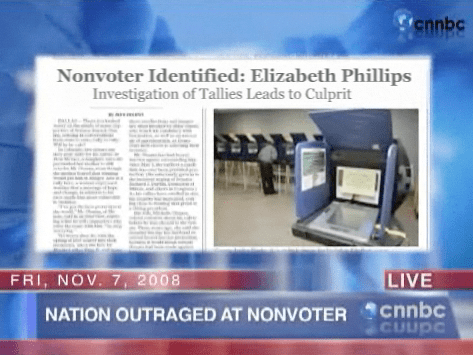 Elizabeth Phillips forgot to vote