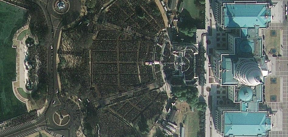 Satellite image of President Obama's Inauguration