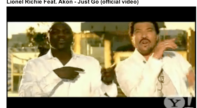 """Lionel Ritchie and Akon """"Just Go"""""""