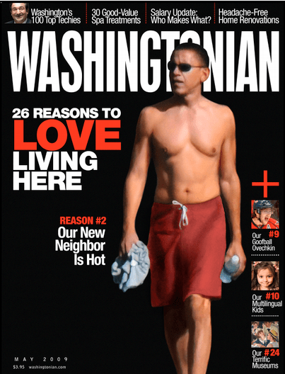 Obama on Washingtonian Magazine's cover