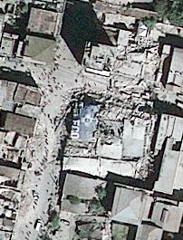 Satellite picture of Haiti taken yesterday by Geoeye