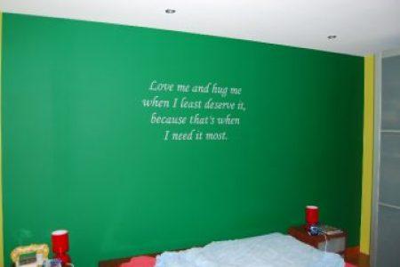 teksten voor slaapkamer muur teksten over het leven » Huis inrichten ...